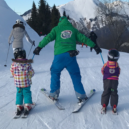 Young children ski lessons Morzine Les Gets Avoriaz