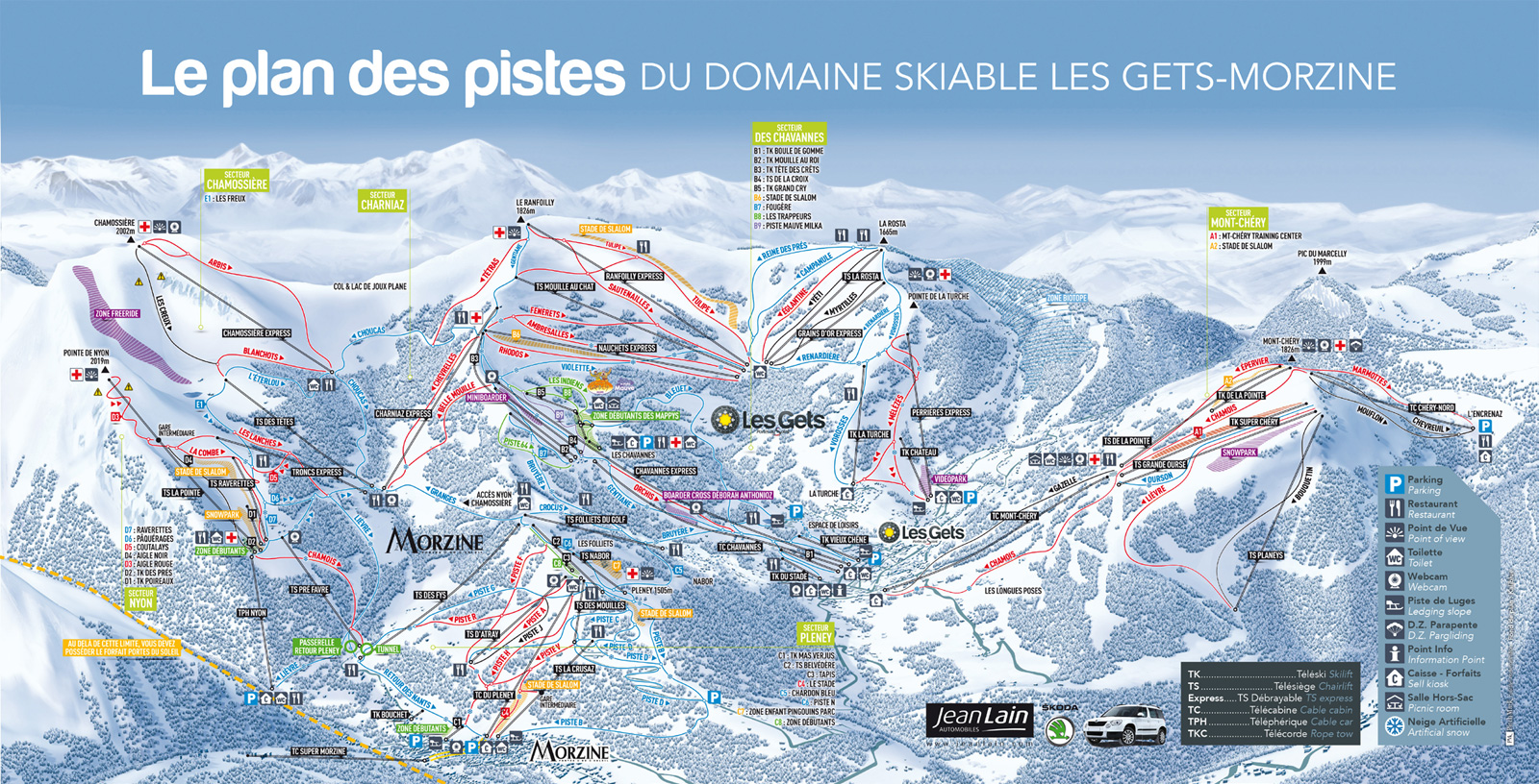 Morzine Piste Map France