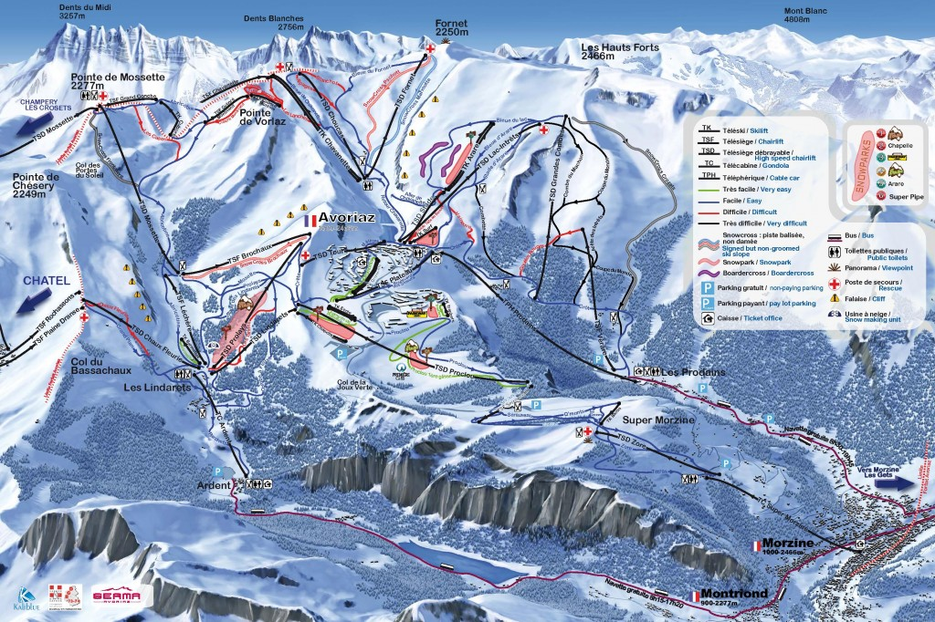 Avoriaz Piste Map France