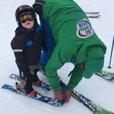 Ski Helmets in Kids Ski Lessons